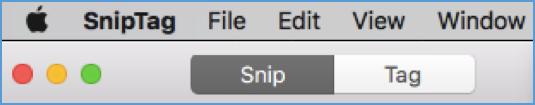 SnipTag mode selector
