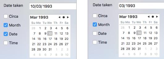 SnipTag Editing IPTC date created