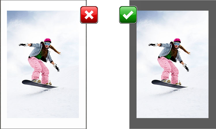 How to scan photos (Contrast with background)