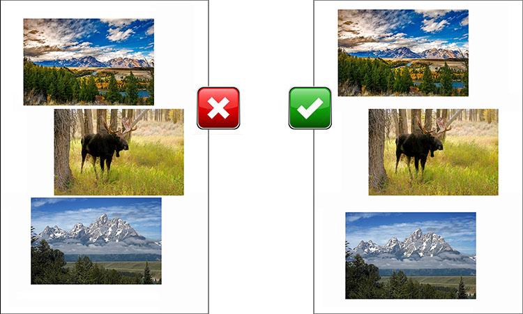 How to scan photos (Gap between photos)